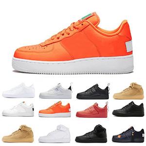 Zorunlu Yardımcı Kırmızı 1 Dunk Koşu Ayakkabıları Erkek Kadın Yüksek Düşük Siyah Beyaz Sadece Turuncu Buğday Cut Eğitmenler Tasarımcı Spor Sneakers