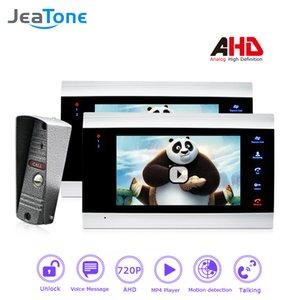 JeaTone 720P / AHD 7 '' Видеодомофон Домофон 4 Проводной дверной динамик DoorBell Система безопасности Голосовое сообщение / Обнаружение движения / MP4-плеер