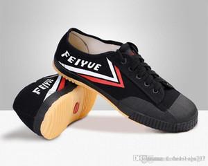 Chinois classique Tai Chi Feiyue Chaussures souple respirant Sneakers Art martial du taekwondo Loisir Chaussures Femmes Hommes Free Run Entraîneur Sneaker