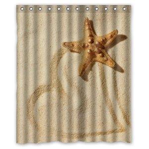 Tenda da doccia alla moda con stelle marine impermeabili personalizzate da collezione