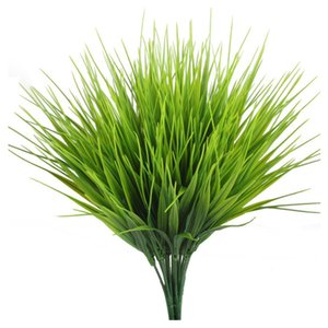 5Pcs / Set artificielle d'herbe en plastique décorative Faux plante Fausse herbe en Pour la maison Décor Bureau Décoration