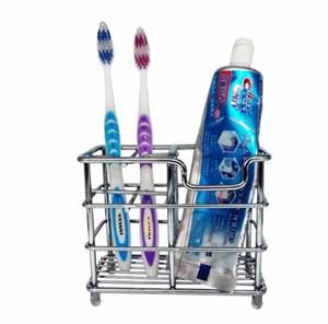 80 pcs Creme dental Simples Suporte Multi Função Titulares Escova de Dentes de Aço Inoxidável Rack de Armazenamento Firme Durável Para Casa de Banho Suprimentos SN3757