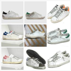 Ouro Sneakers clássica Branca Do-old Itália de luxo da marca Lantejoula sujo Shoes Designer Superstar homem e das mulheres calçados casuais
