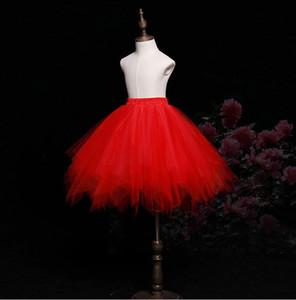 2019 New Flower Girl Dresses Per Boho Weddings Tutu Dress Skirt Medio Oriente Dubai Princess Bambini Prima Comunione Abiti compleanno 45 cm Lungo