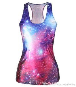 Hot 3D Digital Printed Stretch Womens Tanks Fashion Sexy Ladies H Vest Skull Universe New Arrival