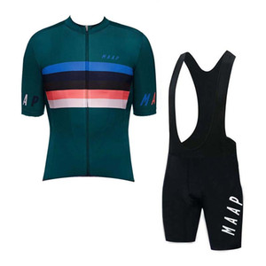 New MAAP Team Cycling jersey Set Uomo Estate Traspirante quick dry bicicletta uniforme manica corta Racing abbigliamento bici outdoor Sportswear Y07162