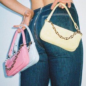 Çanta Kadınlar Çanta Omuz Çantası Zincirler Lizard Timsah Baget Vintage Üst Kol Kadın Yeni Moda 2020