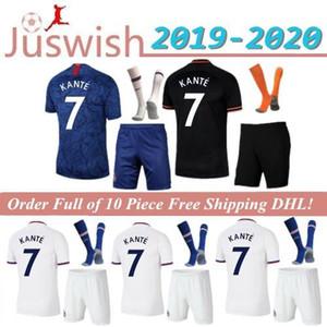 TOP Thaïlande PULISIC KANTE ABRAHAM LAMPARD ODOI WILLAN Soccer Jersey 2019 2020 Jorginho Camiseta de chaussettes kits de football adultes 19 20 hommes