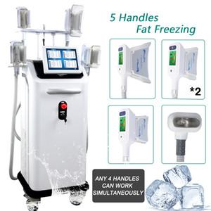 Cryolipolysis машина 4 крио ручки CRYOLIPOLYSIS Freeze жир для похудения заморозить ручки машины 4 Крио могут работать вместе