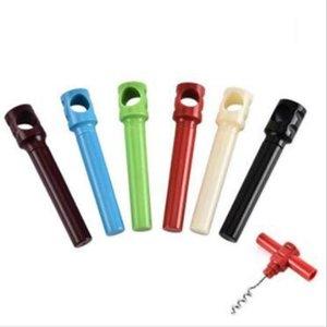 Abridor de garrafas simples Prático Função Vinho Tinto plástico chave de fenda Início Creative Multi Corkscrew Wine Opener Car Acessórios DHB909