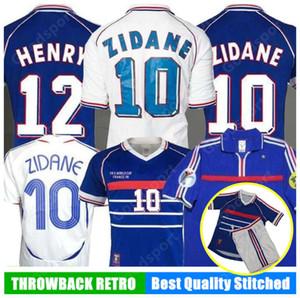 98 개 06 레트로 지단의 유니폼 jorkaeff 앙리 트레제게 축구 프랑스어 POGBA GRIEZMANN 축구 셔츠 KANTE 지루의 타이츠 발은 camiseta 드 FUDA