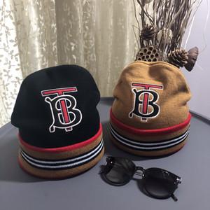 La alta calidad de Skullies Gorros Beanie para hombres mujeres de lujo de punto de color del monopatín gorro gorro con Mon rayas sombreros con la etiqueta original