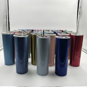 Tazze in acciaio inox 20 oz di colore puro di conservazione di calore Tumbles con coperchio paglia caffè acqua tazze di birra WY540Q-2
