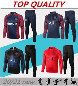 2021 Париж футбол спортивный костюм MBAPPE Кавани ICARDI с длинными рукавами толстовки 20/21 Майо-де-футовый париж футбол бег трусцой куртка костюм
