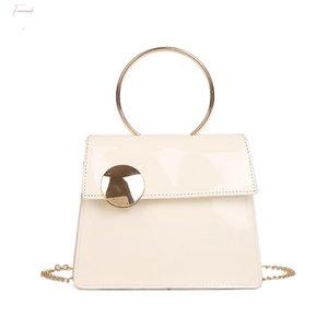 Women Large Button Crossbody Bag Fashion Patent Leather Bag Vintage Classic Handbag Unisex Briefcase Leather Business