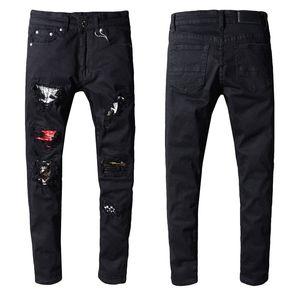 Sıcak Balma Erkek Sıkıntılı Biker Jeans Slim Fit Biker Motosiklet Denim İçin Erkekler Moda Tasarımcısı Hip Hop Erkek Jeans İyi Kalite Ripped