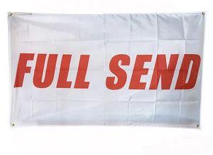 150x90cm 3X5FT personalizzato intero Invia Bandiere bandiere di alta qualità Hanging Pubblicità poliestere con occhielli in ottone