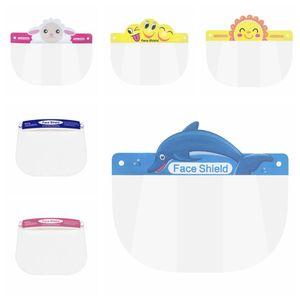 Kids Children Safety Faceshield Transparent Full Face Cover Protective Film Tool Anti-fog Face Shield Designer Masks 300pcs RRA3278