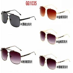 1035 2 The latest selling popular fashion men design sunglasses 0937 square plate metal