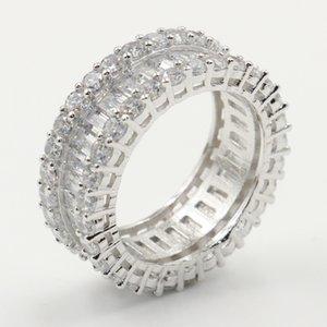 Victoria Wieck Choucong Gioielli Luxury Real 925 Sterling Silver completa della principessa Cut anello della fascia Regalo Diamante Circle squilla le donne di nozze