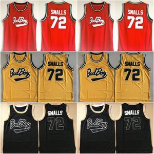 Mens Badboy #72 Biggie Smalls Jersey Notorious B.I.G. Stitched Bad Boy Basketball jerseys S-XXL