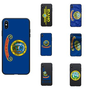 Bandera de Estado de EE.UU. identificación de Idaho Logo Mapa del sello del tema TPU teléfonos Fundas Cubierta imagen de logotipo para el iPhone 6 7 8 S XR X Plus
