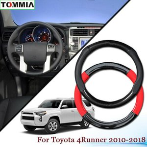 Antideslizante de fibra de carbono de piel cubierta de rueda de coche para Toyota 4Runner 2010+
