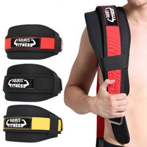Venda de la ayuda de pesas Entrenamiento Sport lumbar Powerlifting Belt Lesión Dolor Apoyo Brace Fitness Gym posterior de la cintura del protector ZZA506