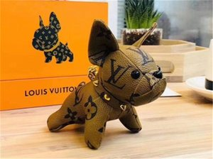 2020 Qualitäts-Luxus-Schlüsselanhänger Designer Key Buckle Purse-Anhänger Taschen Hundeart Design Tasche Puppe Ketten Schlüssel Buckles 6 Farbe keine Box