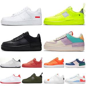 Nike Air Force 1 one Luxury Mens женщин кроссовки Whtie Полезность Volt Тройной черный Тропические Twist Дизайнерские Кроссовки Обувь Просто Оранжевый кроссовки