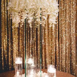 Metallic Foil Tinsel Fransevorhang Tür Regen Hochzeit Dekoration Geburtstags-Party-Hintergrund-Hintergrund Foto Props 120x180cm