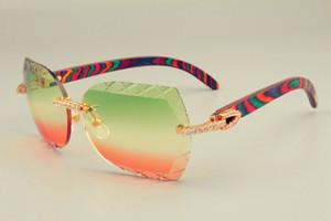 2019 جديد الشحن المجاني dhl العدسات الساخنة بيع النظارات الشمسية 8300593-a لون طبيعي الخشب أيضا النظارات ، الماس الفاخر unisex sunshade مرآة,