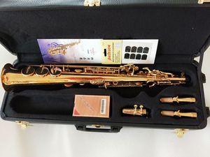 New Arrival Soprano B(B) Saxophone YANAGISAWA S-WO10 Gold Plated B Flat Brass Instrument Sax With Mouthpiece Free Shipping