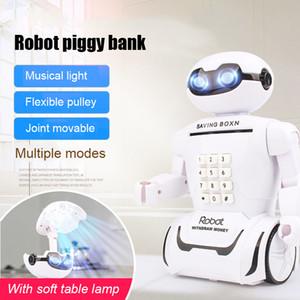 Enfants Jouet Alcancia Creative Electronic Savings Toy Coffre-fort Robot Musique Économiser de l'argent Cash Box Lampe de bureau