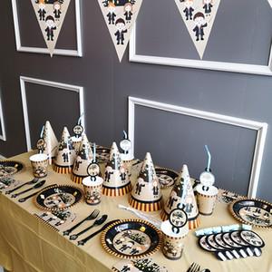 Harry Potter Thème Fête Décoration Ensemble Bannière Table Tissu Pailles Coupe Assiettes Fournisseur Enfants Fête D'anniversaire Décoration GGA2510