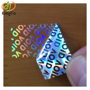 Özel GEÇERSİZDİR kurcalama göstergeli güvenlik hologramı çıkartması