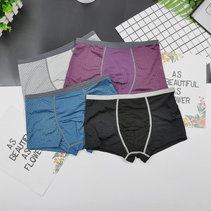 biancheria intima in nylon Shorts Ice Seta maglia fredda traspirante pugile della biancheria intima giovani sportivi dei pantaloni di sport
