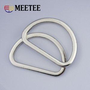 Meetee 25/38 mm Metal D Ring para bolsas Correas Correando bolso de perro DIY Hardware Craft accesorios de cuero G7-3
