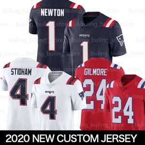 1 Cam Newton pullover di football New EnglandPatriots Custom 24 Stephon Gilmore 15 N'Keal Harry 11 Julian Edelman Jarrett Stidham Winovich