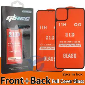 NOUVEAU avant et arrière en verre trempé Téléphone Protection d'écran pour iPhone 11 PRO MAX Iphone11 avant et arrière max 2 deux dans un verre 1 boîte