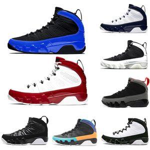 صالة الألعاب الرياضية الأحمر المتسابق الأزرق الحمضيات 9 IX 9S رجل حذاء كرة السلة الحلم UNC LA أوريو ولدت الرجال ازدحام الفضاء الرياضة احذية 7-13