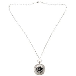 Relógio de bolso do vintage de E Mulheres Silver Lace Grande Openwork prata cara preta Roman Número Roman Pingente Femininos