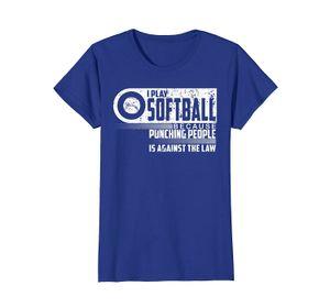 2020 New Cool Tee Shirt I Play Softball Shirt Fastpitch Softball Slow Pitch Softball Fashion Cotton T-shirt