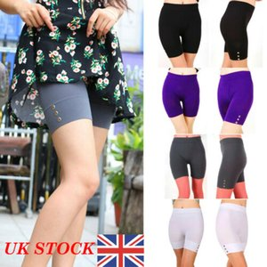 Summer New Causal Women Ladies High Waist Solid Cropped 1/2 Leggings Active Stretchy Shorts Safety Trousers Summer Causal Shorts