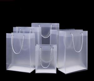 8 Givré Taille des sacs-cadeaux en plastique PVC avec poignées sac étanche en PVC transparent partie de sac à main sac faveurs claires logo personnalisé SN441