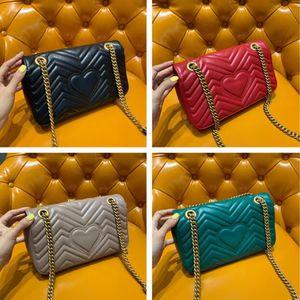 Klasik 2G Etiket En kaliteli Aşıklar kalp şekli omuz çantaları kadınların crossbody Makyaj çantası çanta çanta zinciri
