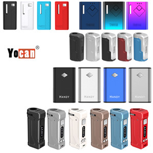 1PC Original Yocan UNI Pro Wit útil Groote Box Mod bateria Vape mod E Fit cigarro óleo espesso Vape Cartridge 2020 mais novo projeto