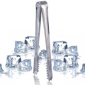 1pcs جديد الفولاذ المقاوم للصدأ الشواء BBQ كليب الخبز الغذاء الجليد المشبك الجليد تونغ شريط الأدوات مطبخ اكسسوارات بالجملة