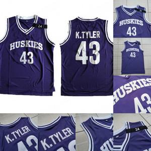 43 LIANZEXIN K.Tyler Jersey Hombre Huskies El sexto Marlon Wayans Kenny Tyler 100% cosido película Camisetas de baloncesto S-XXXL Orden de mezcla al por mayor