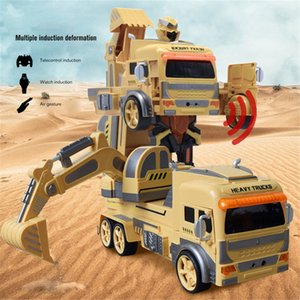 1:12 Gesture-sensing Remote-controlled Deformation Car Mixer Truck Excavation Dumper Engineering Vehicle 2.4GHz RC Robot Car